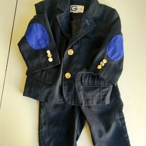 Other - Baby boy suit  patch elbows 3-6month